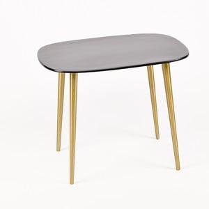 Příruční stolek s šedou deskou ze smaltu Simla Dia