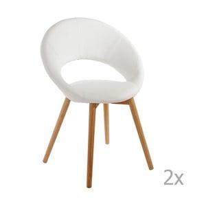 Set 2 scaune 13Casa Valencia, alb