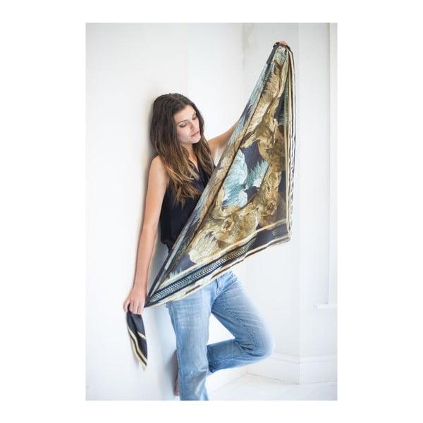 Šátek Stag Blue, 130x130 cm