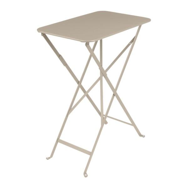 Béžový zahradní stolek Fermob Bistro, 37 x 57 cm