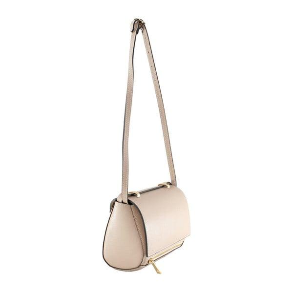 Pudrová kožená kabelka Polly
