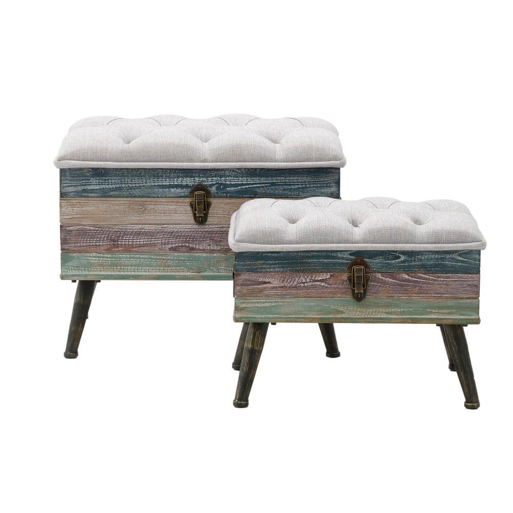 Sada 2 stoliček s úložným prostorem InArt Space, 62 x 48 cm