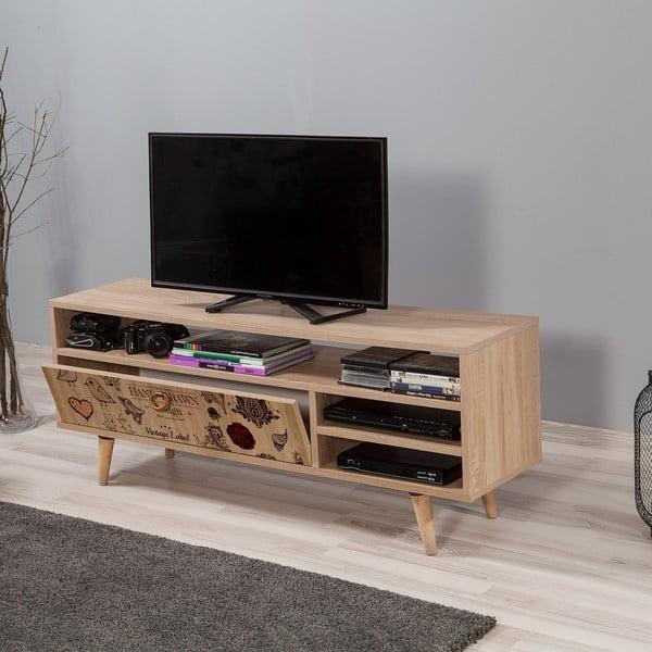 Dřevěný TV stolek Agapis Spray