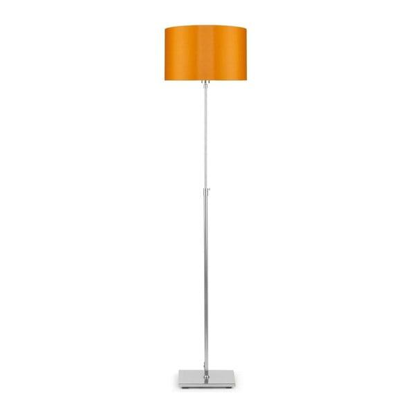Šedá volně stojící lampa s oranžovým stínidlem Citylights Bonn