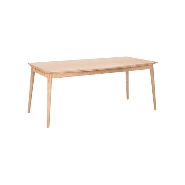 Svetlohnedý rozkladací jedálenský stôl WOOD AND VISION Curve, 180 × 95 cm
