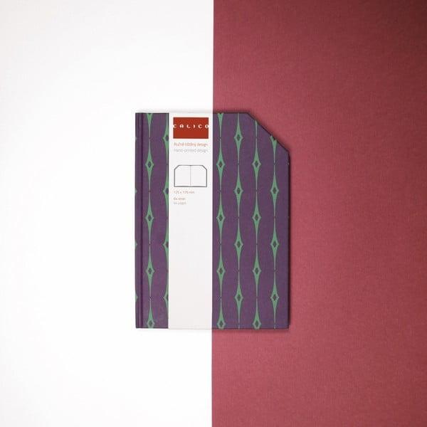 Ručně šitý zápisník bez linek Calico Emral