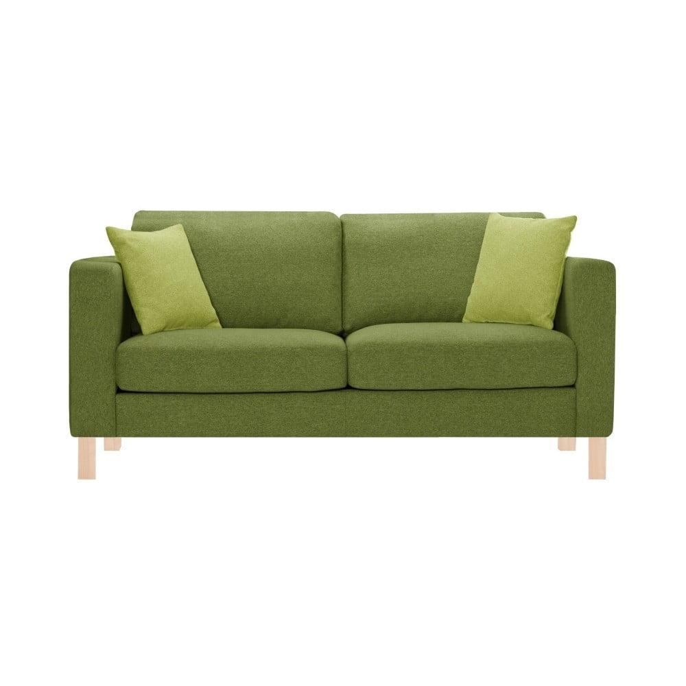 canapea pentru 3 persoane stella cadente maison canoa verde cu 2 perne verzi bonami. Black Bedroom Furniture Sets. Home Design Ideas