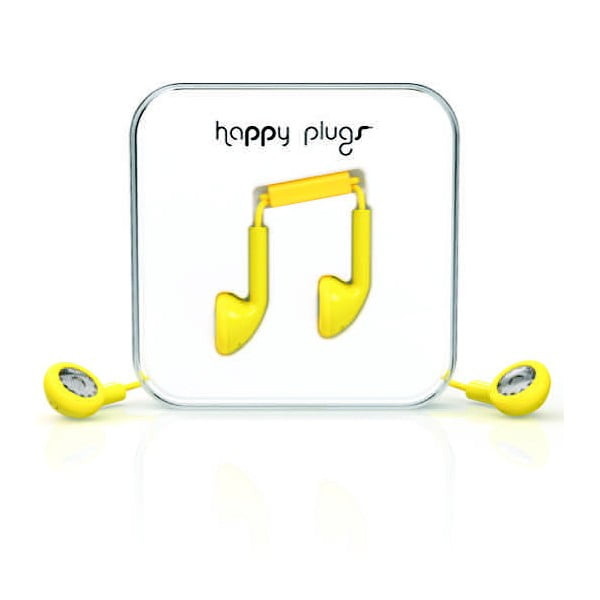 Sluchátka Happy Plugs, žlutá