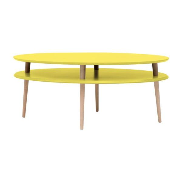 Žltý konferenčný stolík Ragaba OVO
