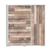 Botník v dekoru dubového dřeva se 3 výklopy 13Casa Social Metropolitan