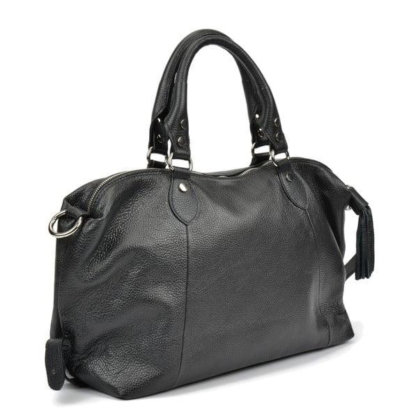 Černá kožená kabelka Mangotti Bags Joana