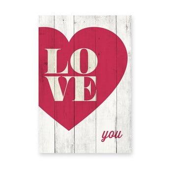 Tablou din lemn de pin Really Nice Things Love You, 40 x 60 cm de la Really Nice Things