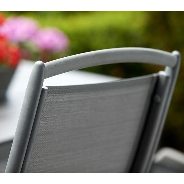 Sada 2 zahradních křesel ve stříbrné barvě Brafab Andy
