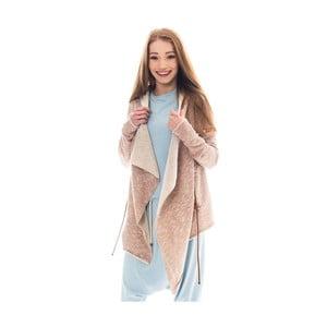 Růžovooranžový bavlněný kardigan Lull Loungewear Mógan, vel.M