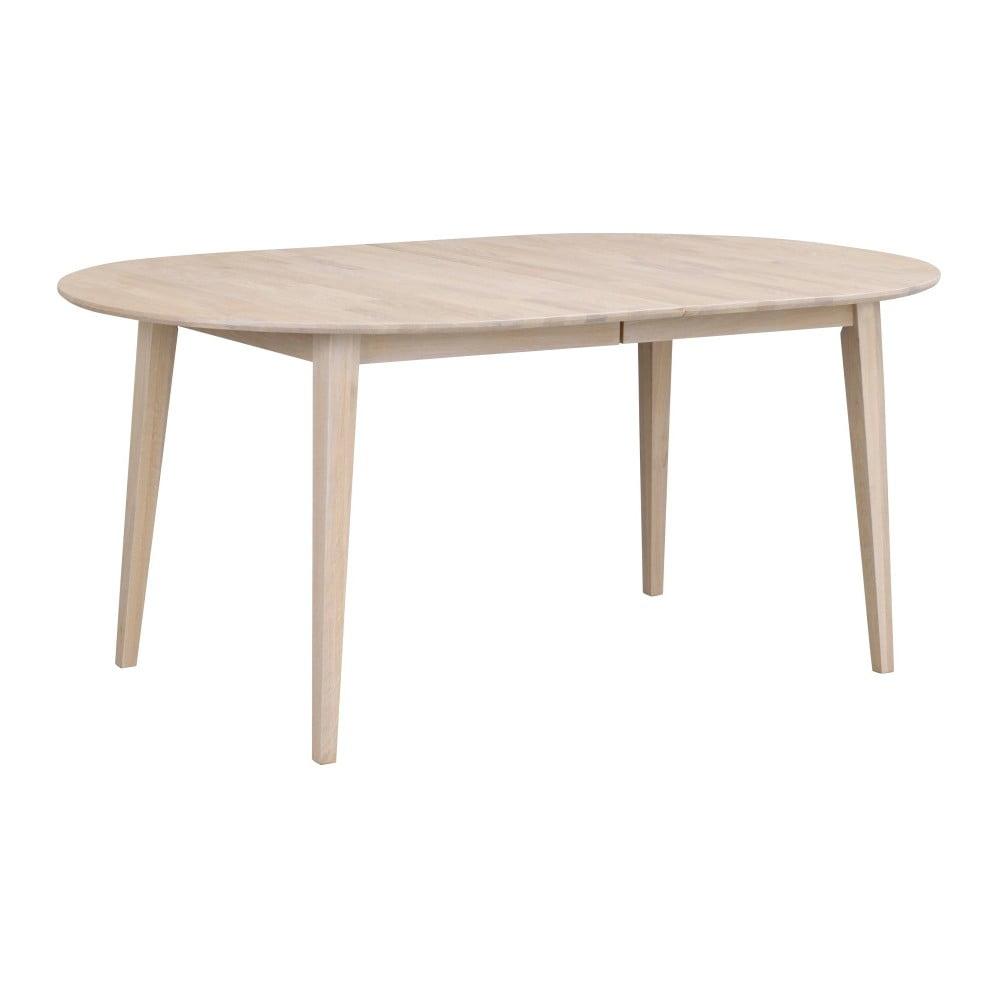 Světlý oválný dubový rozkládací jídelní stůl Folke Mimi, délka až 210 cm