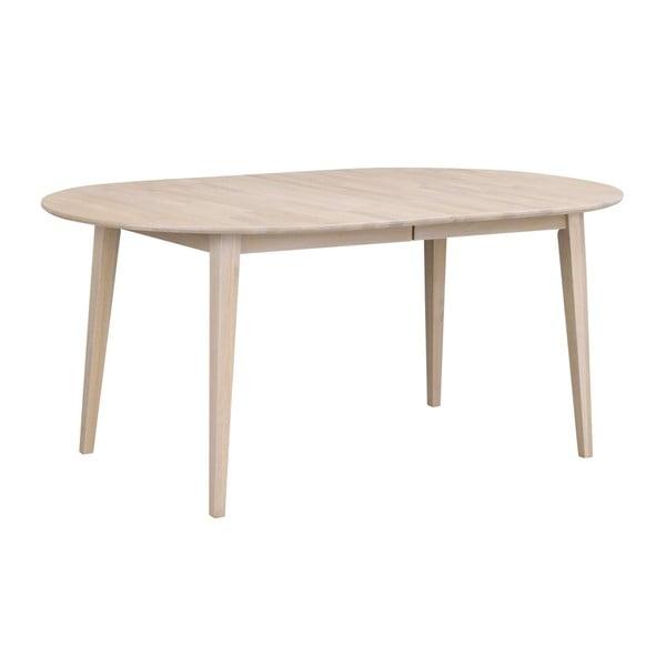 Světlý oválný dubový rozkládací jídelní stůl Rowico Mimi, délka až 210cm
