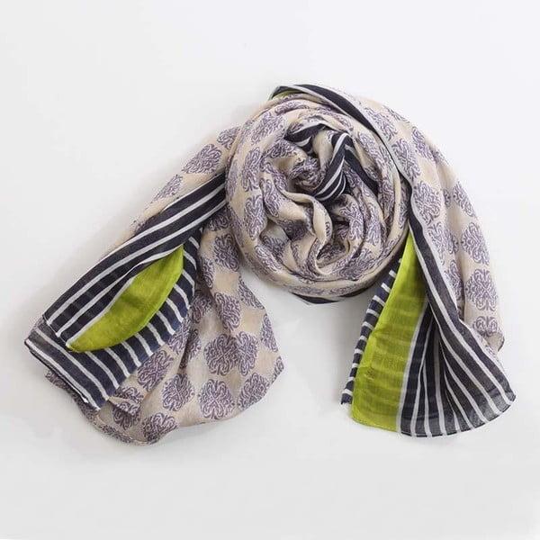 Šátek, modrá/zelená