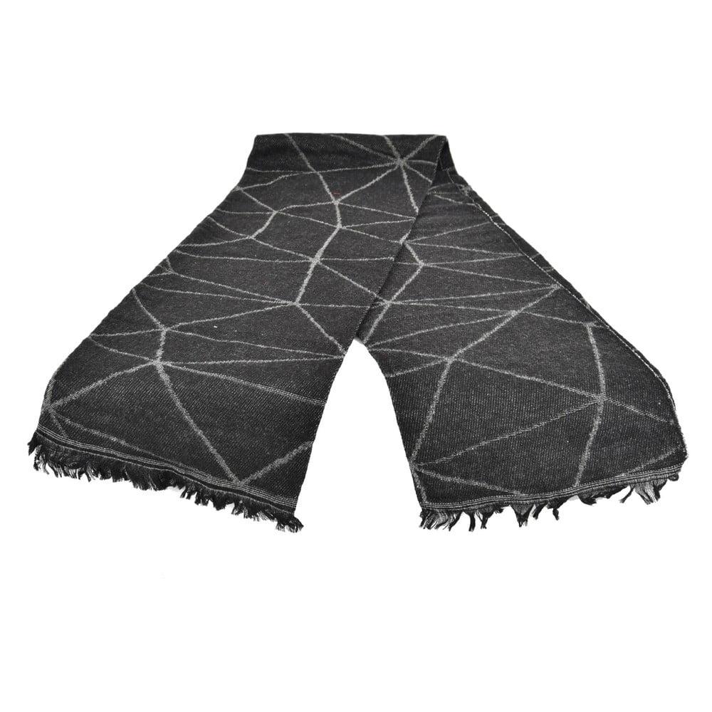Černý dámský šál s příměsí bavlny Dolce Bonita Sky, 170 x 90 cm