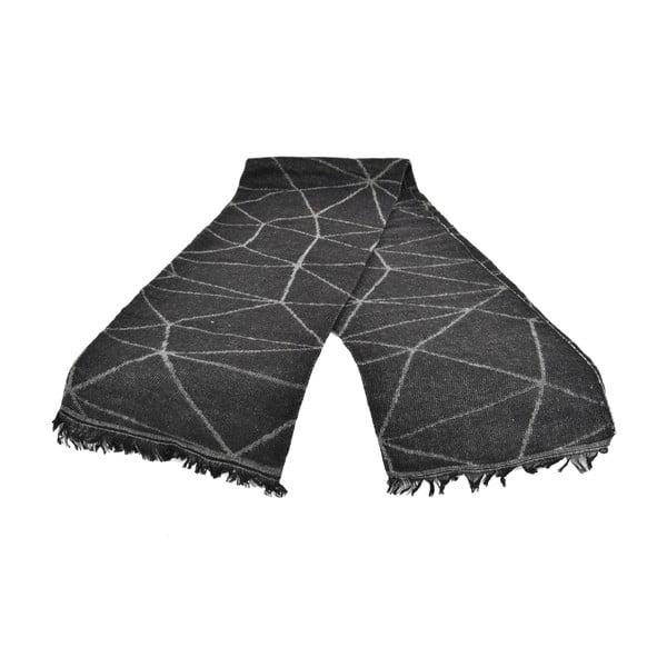 Czarny damski szal z domieszką bawełny Dolce Bonita Sky, 170x90 cm