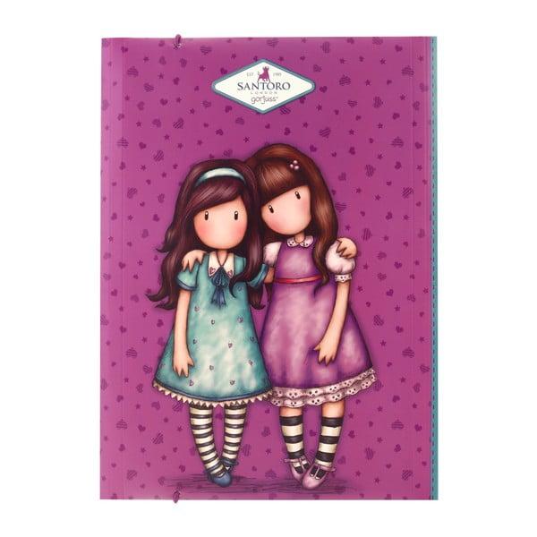 Barevné desky s elastickým zavíráním Santoro London Friends, A4