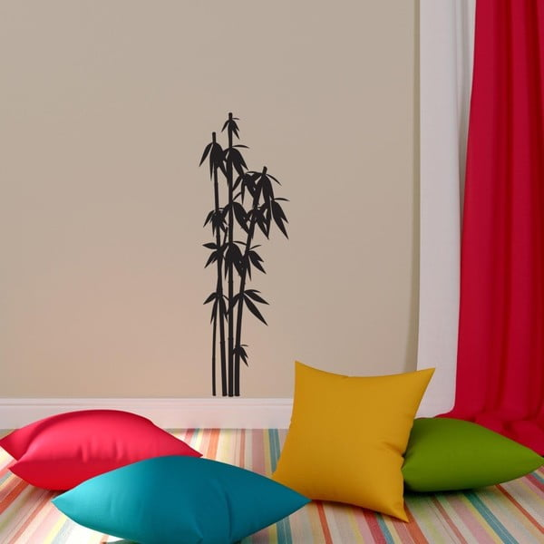 Dekorativní samolepka ve tvaru bambusu, 25 x 82 cm