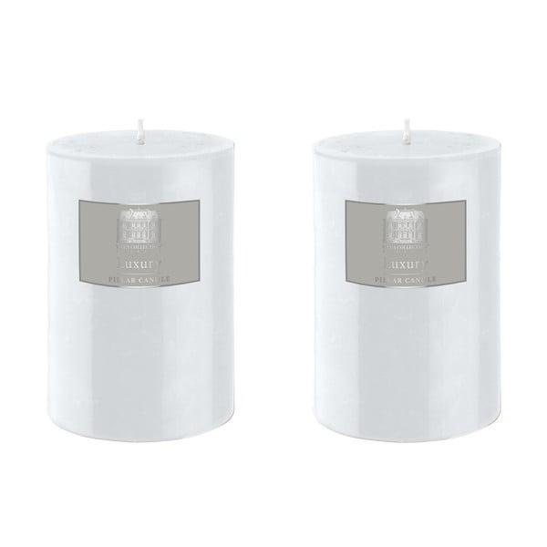 Set dvou svíček 10 cm, bílé, 48 hodin hoření