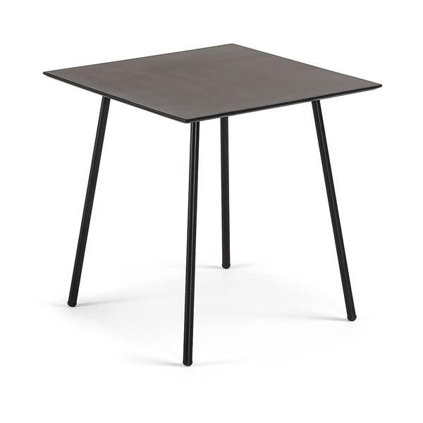 Černý stůl La Forma Ulrich, 75 x 75 cm