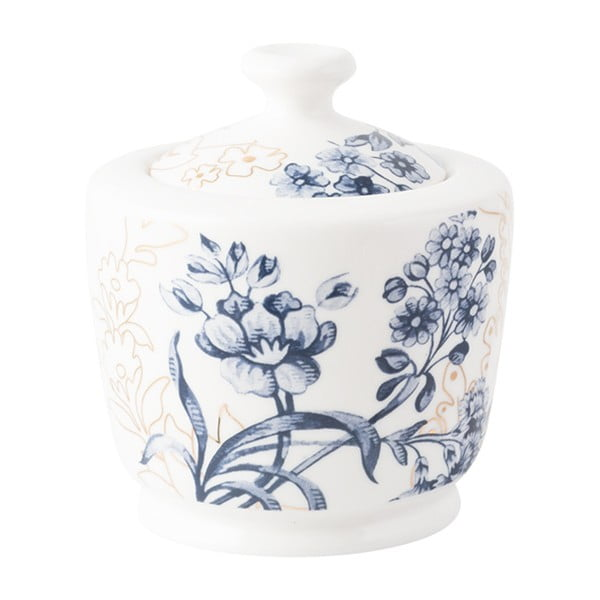 Porcelánová cukřenka s modro-zlatými vzory Creative Tops