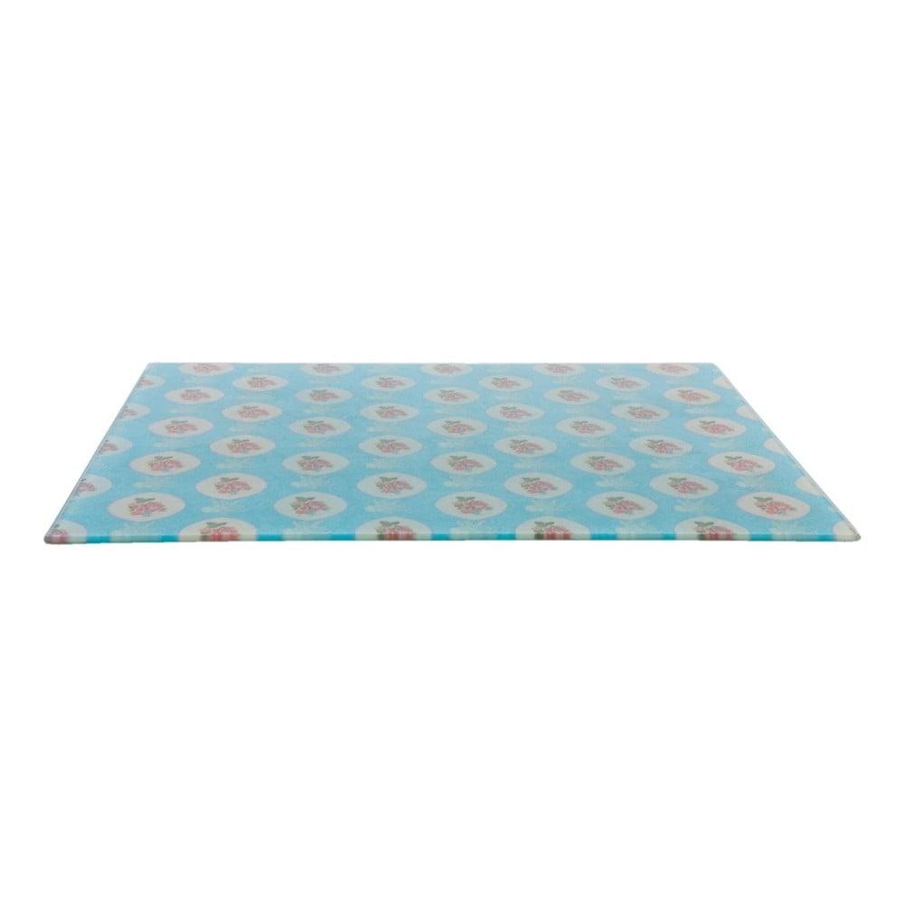 Modré skleněné krájecí prkénko Clayre & Eef, 40 x 30 cm