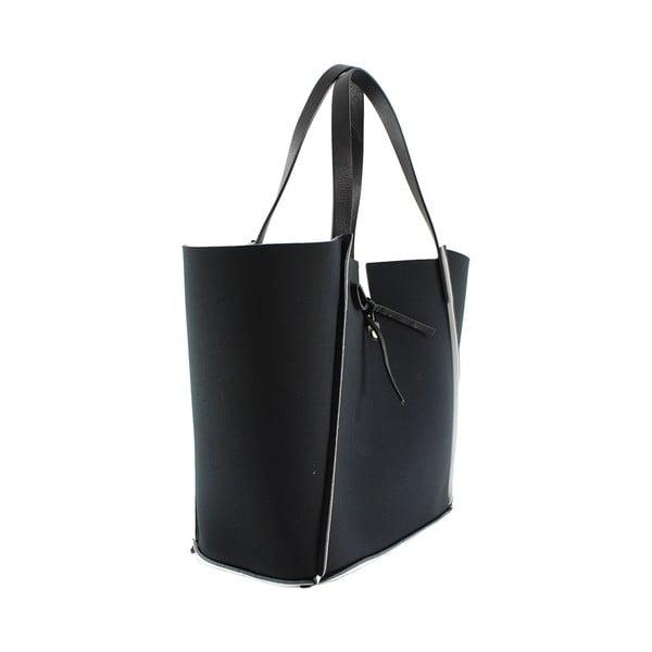 Neoprenová kabelka Fiertes, černo-bílá