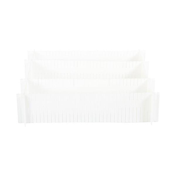 Zestaw 6 białych rozdzielaczy do szuflady Compactor Drawer Dividers