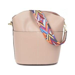 Pudrově růžová kožená kabelka Luisa Vannini Clorinda