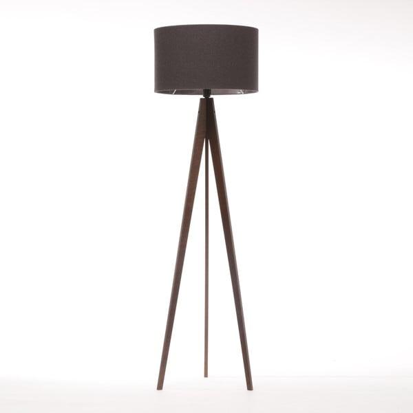 Stojací lampa Artist Dark Grey Felt/Dark Brown, 125x42 cm