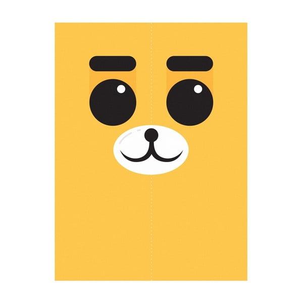Plakát Medvěd Žlutý, A3