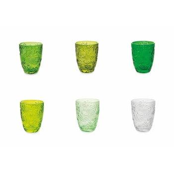 Set 6 pahare colorate Villa d´Este Jungle, 230 ml