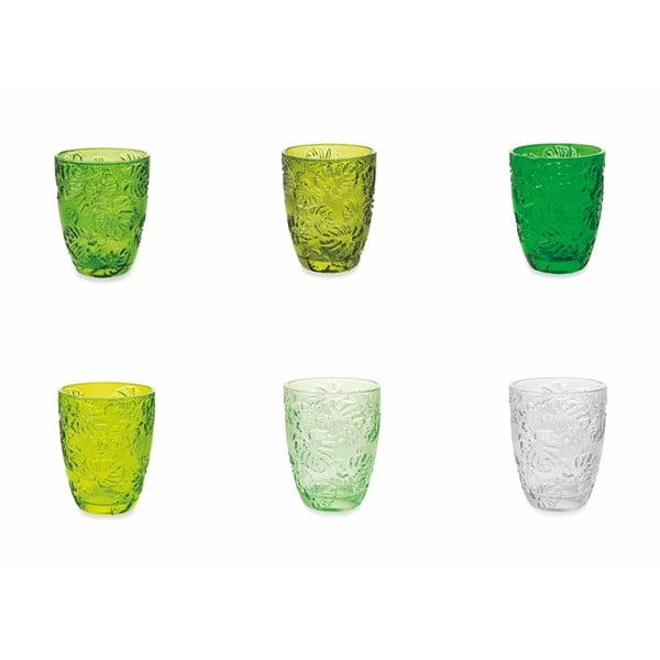 Sada 6 barevných sklenic Villad'Este Jungle, 230 ml