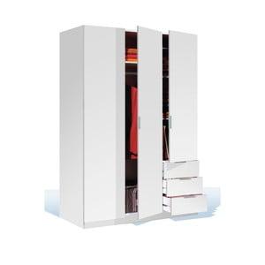 Bílá šatní skříň se 3 šuplíky Evergreen House Fiona