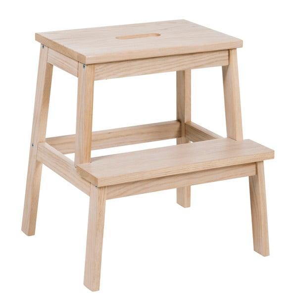 Lakierowany matowy dębowy stołek/schodki Rowico Nanna
