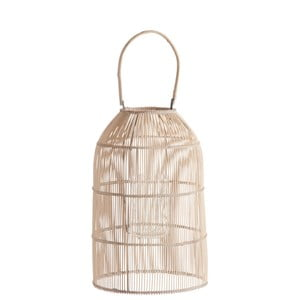 Bambusová lucerna J-Line Rattan Nat, 45 cm