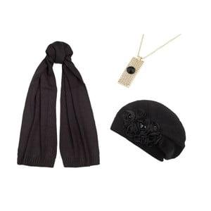 Sada čepice, šály a náhrdelníku Lavaii Lola