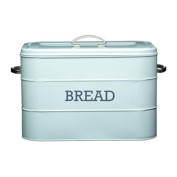 Niebieski metalowy pojemnik na chleb Kitchen Craft Nostalgia
