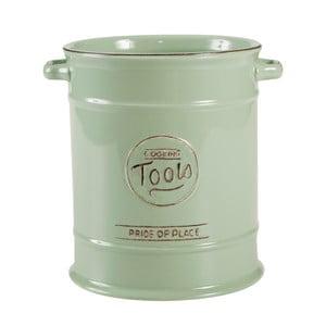 Doză ceramică pentru ustensile T&G Woodware Pride of Place, verde