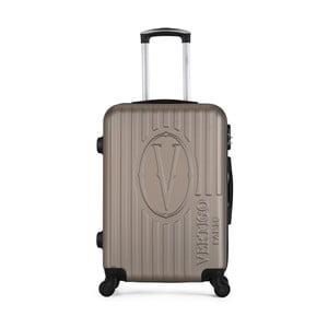 Hnědobéžový cestovní kufr na kolečkách VERTIGO Valise Grand Cadenas Integre Malo, 33 x 52 cm