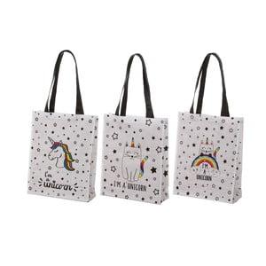 Sada 3 bavlněných tašek s různým potiskem Unimasa Fancy,30,5x38,5cm