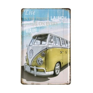 Cedule Beach Van, 20x30 cm