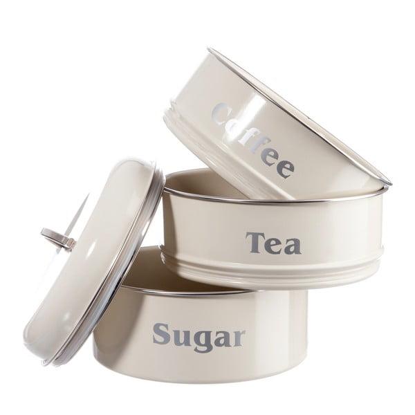 Sada 3 dóz Cream Tea, Coffee and Sugar, 18x28 cm