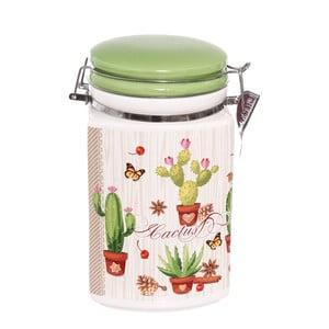 Keramická uzavíratelná dóza Kasanova Cactus, 1,5l