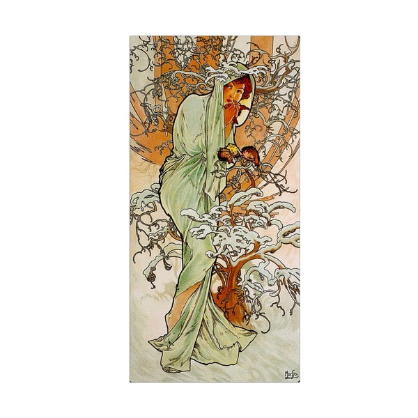 Obraz Mucha - Winter, 30x60 cm