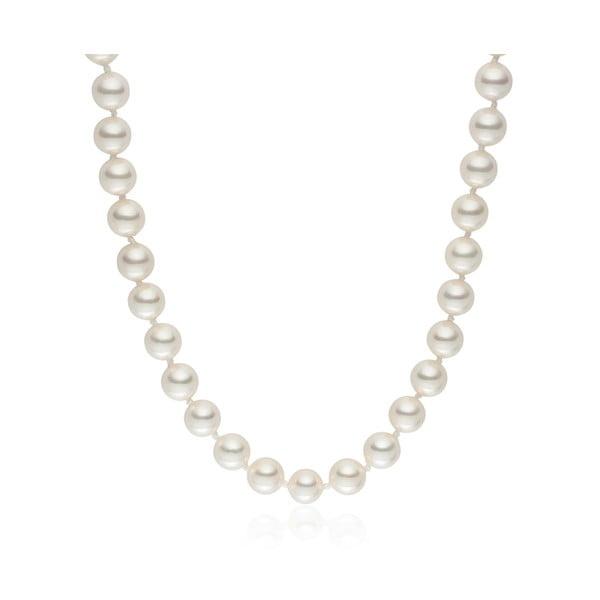 Perlový náhrdelník Pearls Of London Mystic White Off, 42cm