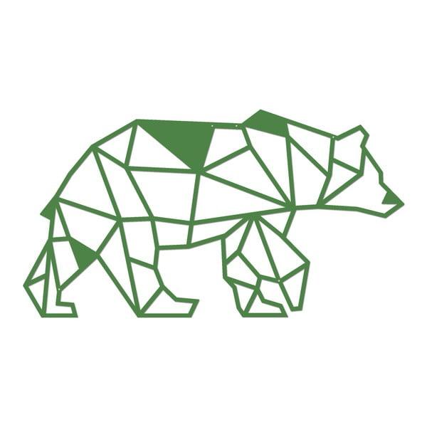 Zelená kovová nástěnná dekorace Wall Decor Bear